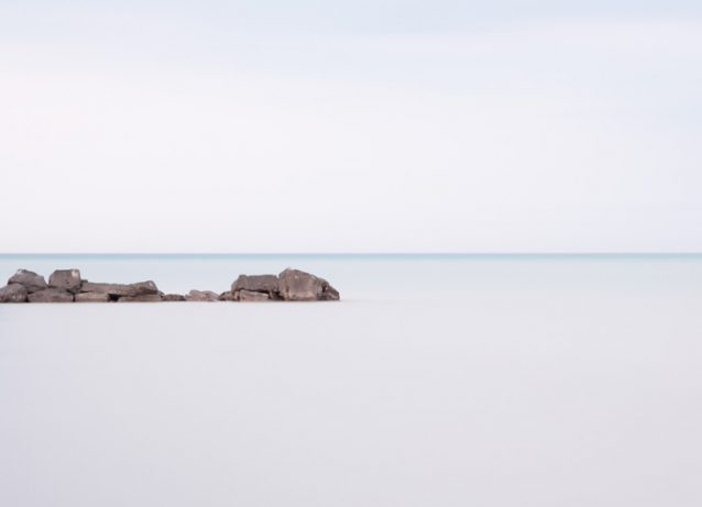 Blue Minimalist Photograpy - Lake Erie #11