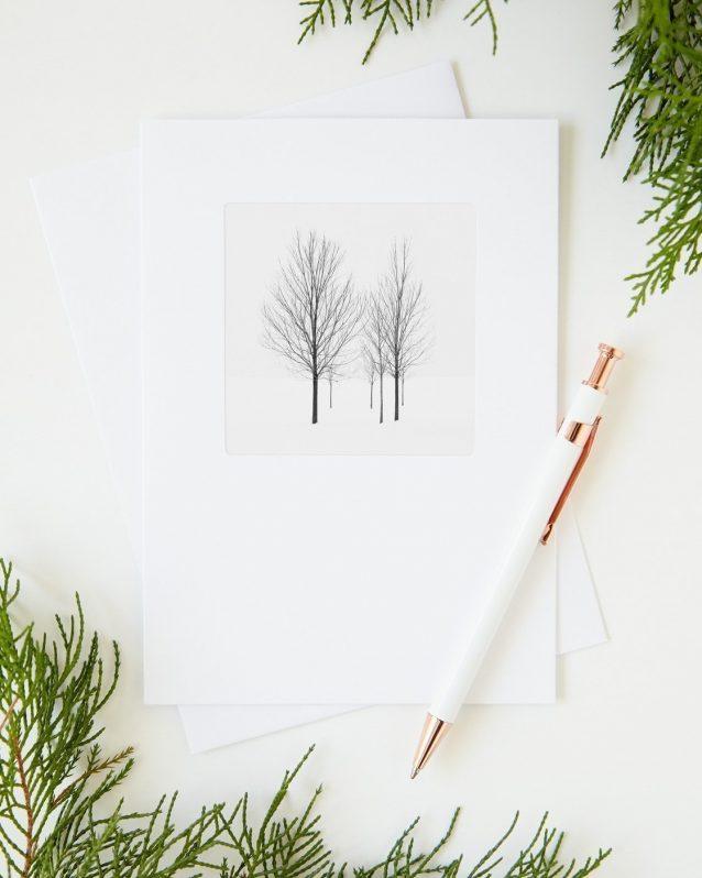 Minimalist Christmas Greeting Cards - Elviage Pearl
