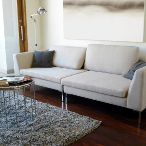 Coastal Contemporary Living Room – Modern Abstract Art Print