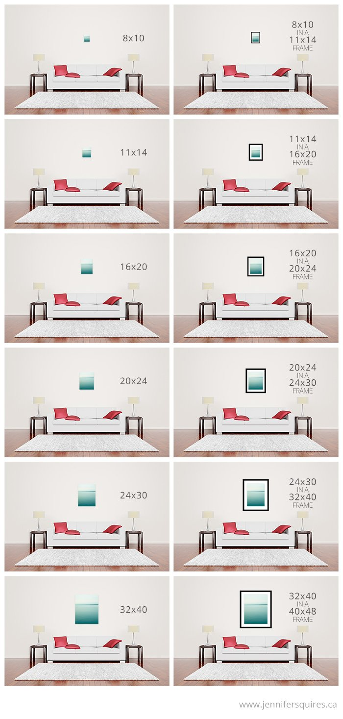 Sofa Sizes large wall art above sofa - sizes for canvases and framed prints