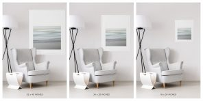 Modern Beach Decor - Spring Shore - Size Chart