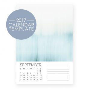 2017 Calendar Template - Simplified