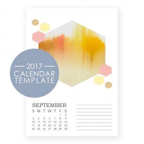 2017 Calendar Template - Honeycomb