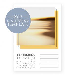 2017 Calendar Template - Retro