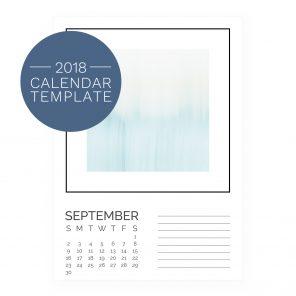 2018 Calendar Template - Gallery