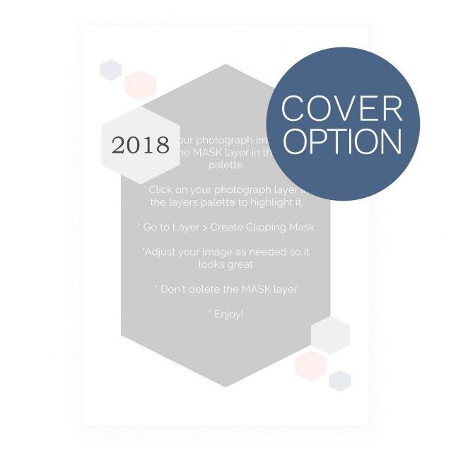 2018 Calendar Template - Honeycomb