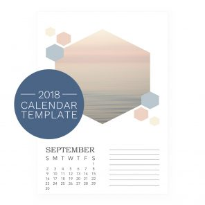 2018 Calendar Template - Honeycomb