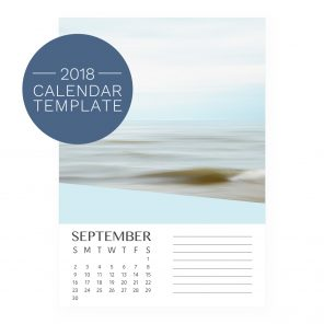 2018 Calendar Template - Wedge
