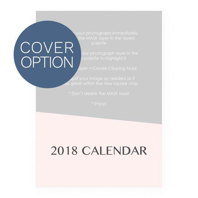 2018 Calendar Template - Wedge