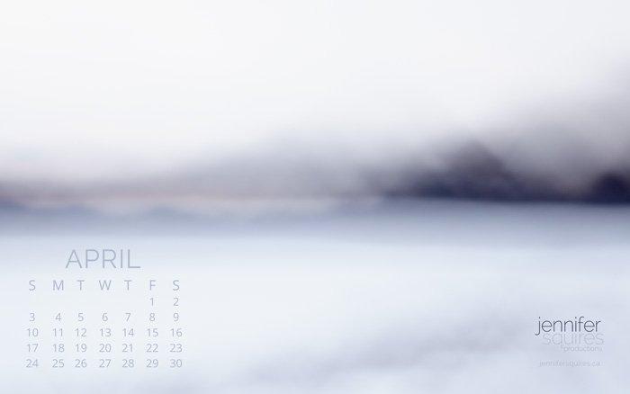 April 2016 Calendar - Abstract Art Wallpaper