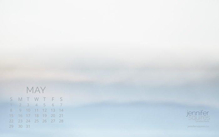 May 2016 Calendar - Impressionist Wallpaper