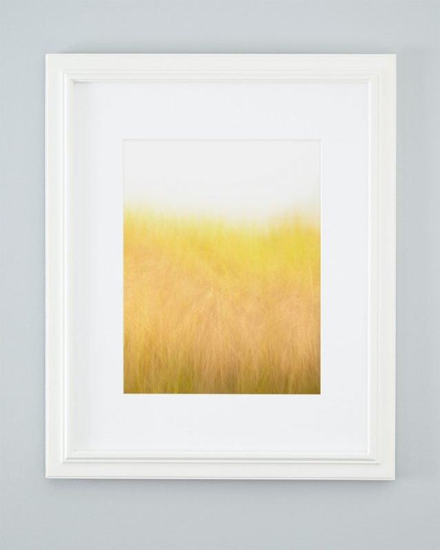 Golden Beach Grass Picture - Sunshine and Breeze Framed