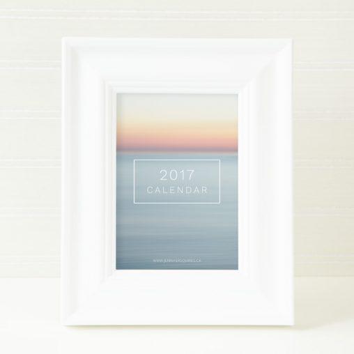 2017 Abstract Art Calendar Framed