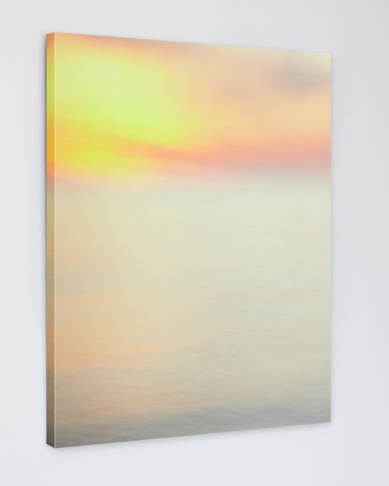 Orange Sunset Impressionist Art Canvas - Whirling Warmth