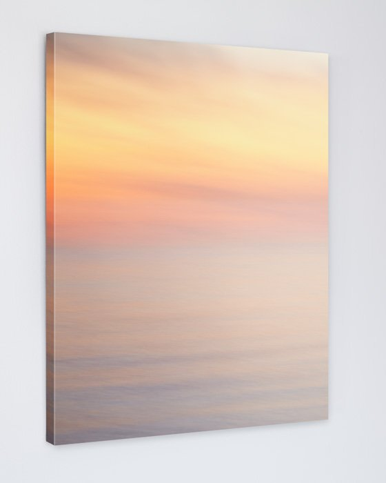 Large Sunset Beach Decor Canvas - Swept To Fairyland