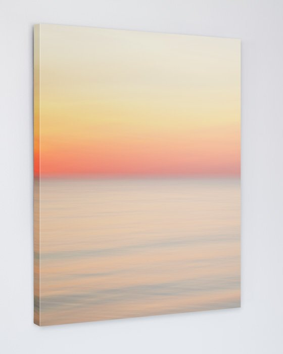 Pastel Orange Sunset Picture - Adrift and In Love Canvas