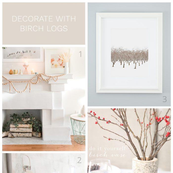 How to Decorate with Birch Logs
