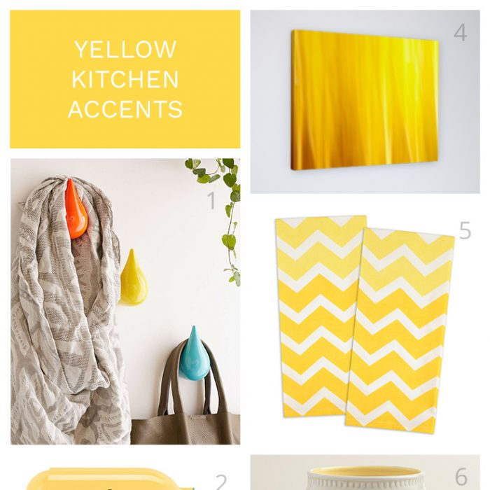 Yellow Kitchen Accents for the Modern Coastal Home