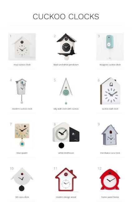 Modern Cuckoo Clocks for Scandinavian-Style Coastal Home Decor