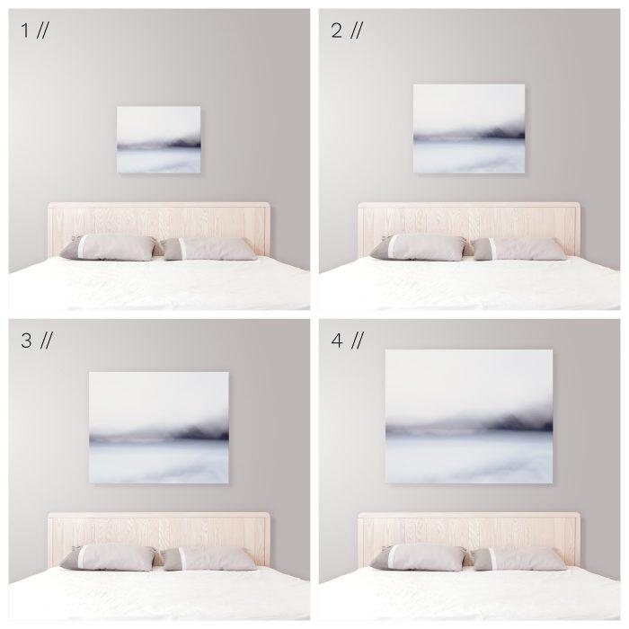 Ideal Canvas Art Size Above King Bed - Modern Coastal Bedroom Decor Tips