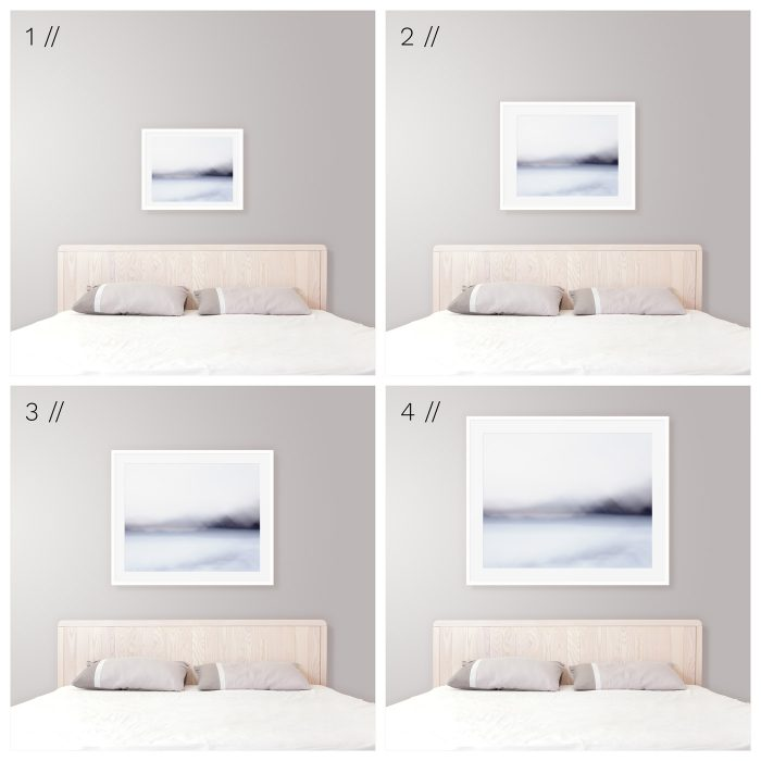 Good Ideal Frame Size Above King Bed