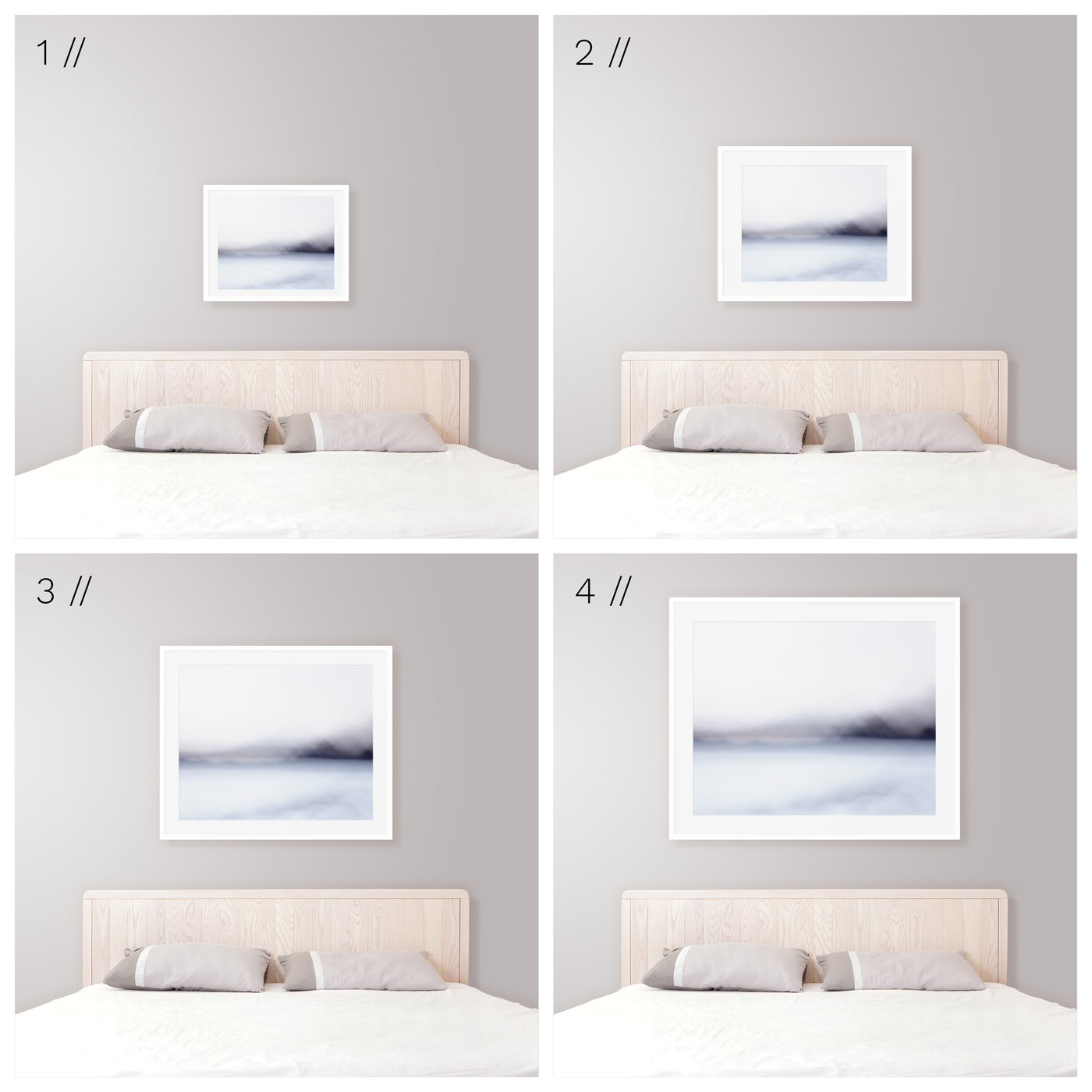Ideal Art Size Above King Bed - Modern Coastal Bedroom ...