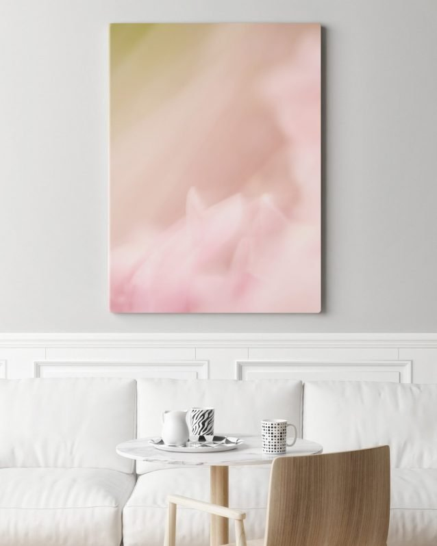 Modern Nursery Decor - Emily - Pretty Pink and Green Abstract Art Print
