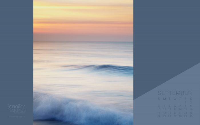September 2017 Calendar - Beach Sunrise Desktop Calendar