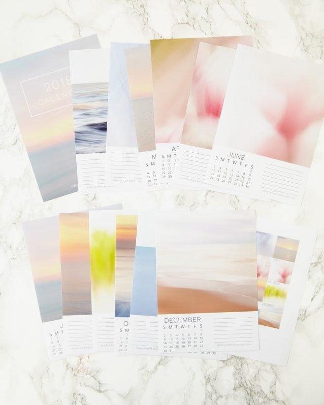 2018 Abstract Art Calendar