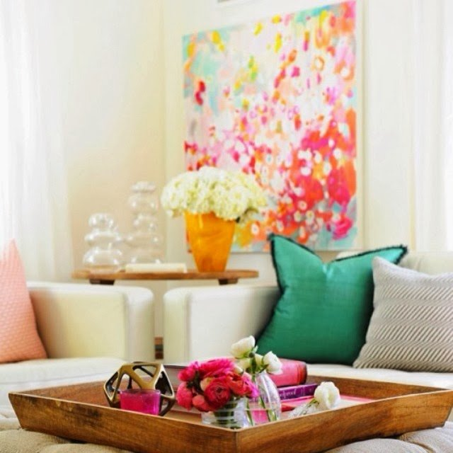 How to Add Colour to a Beige Living Room with Art ...