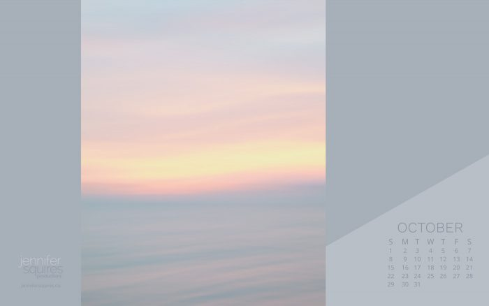 October 2017 Calendar - Pastel Blue and Pink Abstract Art Wallpaper