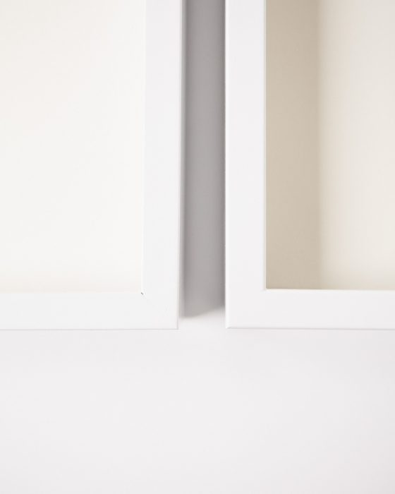 How to Paint Ikea Ribba Frames - From Black to Modern Coastal White
