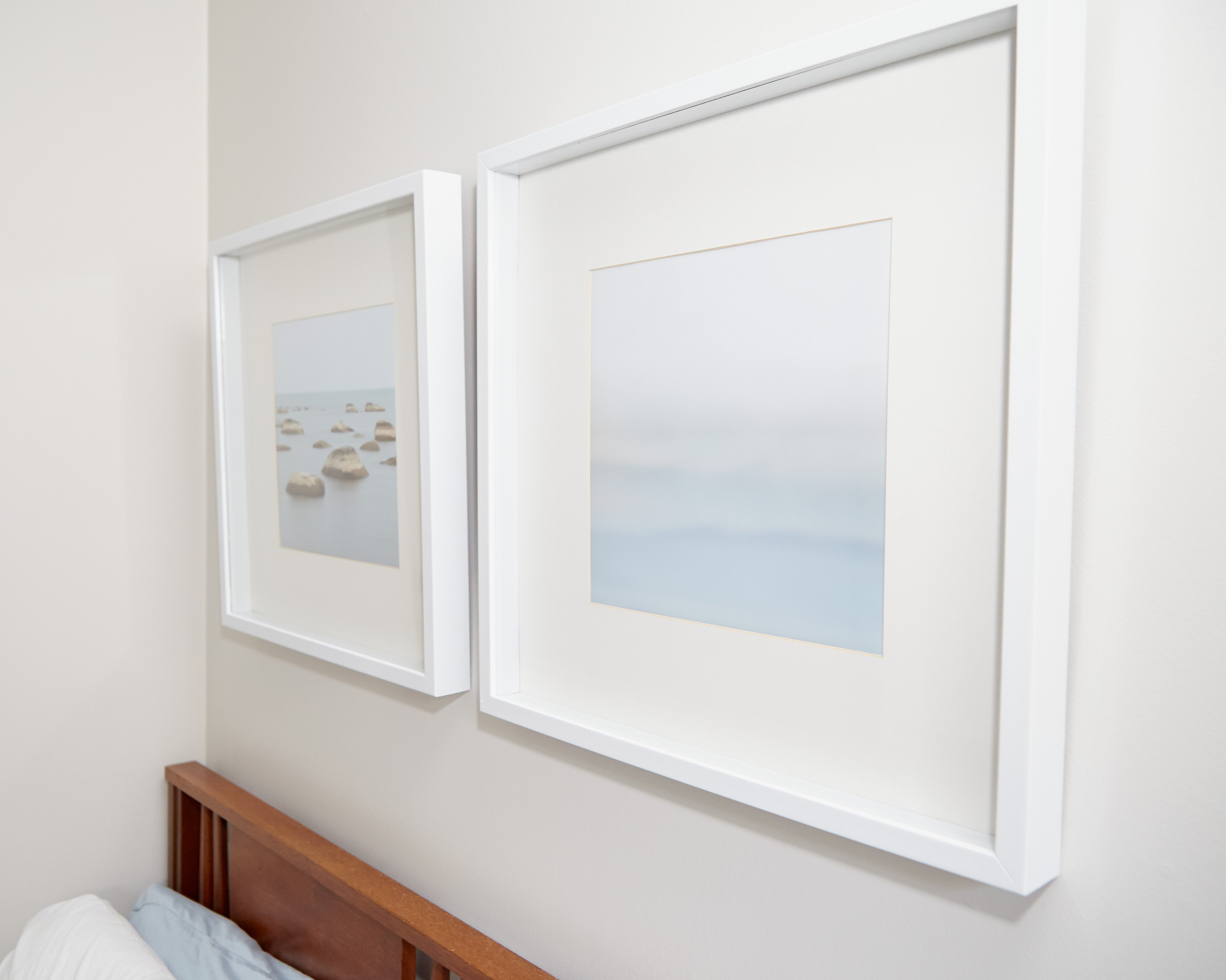 How to paint ikea ribba frames from black to modern coastal white jeuxipadfo Images