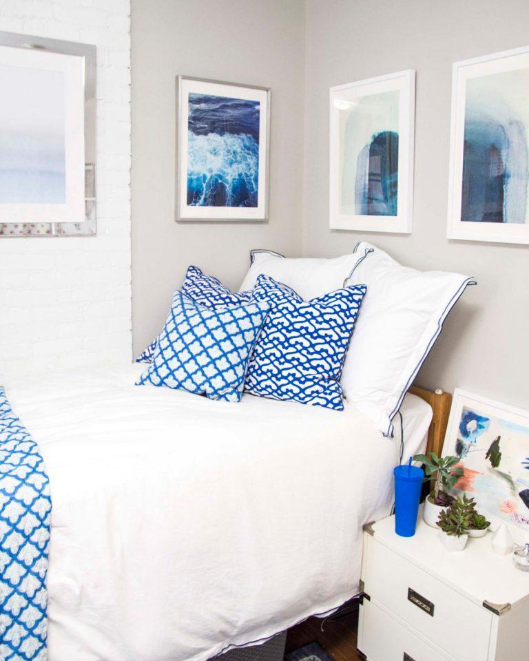 Blue Bedroom Wall Art