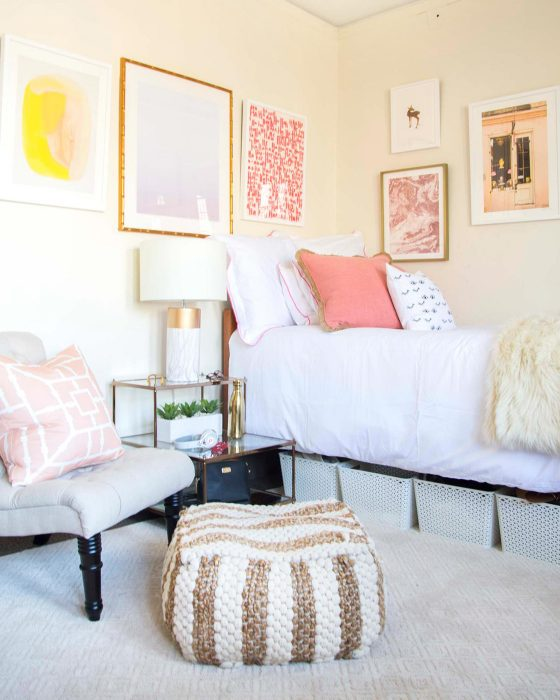 Blush Bedroom Wall Art