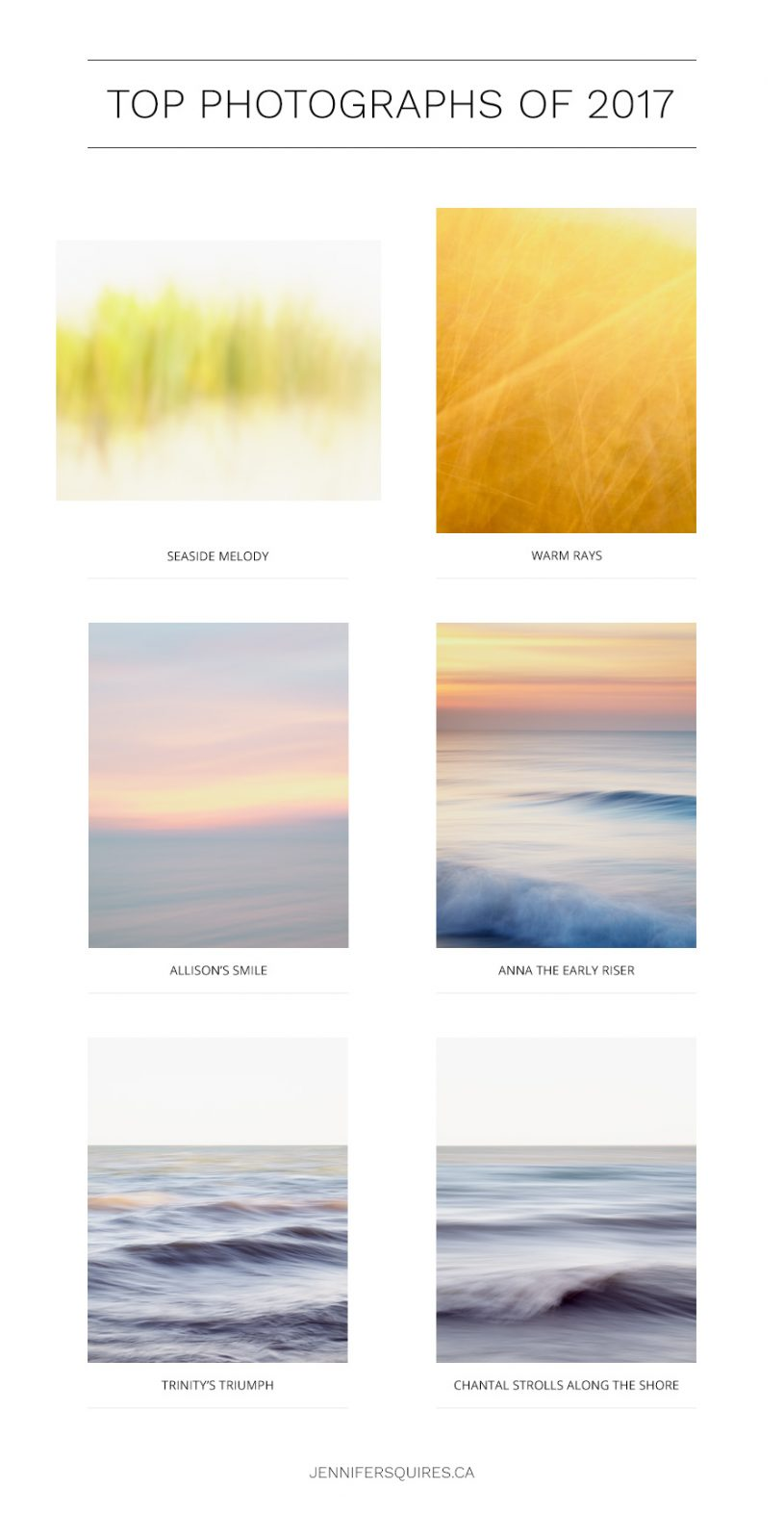 Top Photographs of 2017 - Coastal Abstracts and Beaches