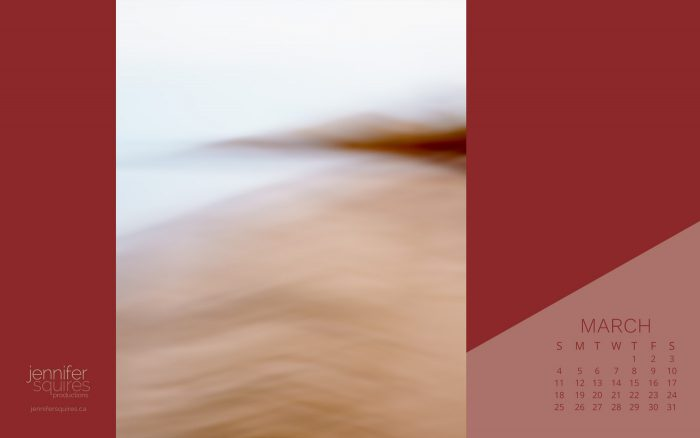 March 2018 Calendar - Peaceful Winter Coastal Photography Wallpaper