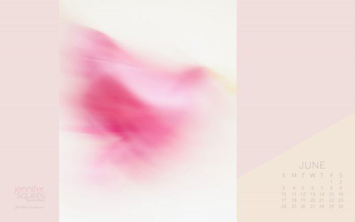 June 2018 Calendar - Pretty Abstract Flower Wallpaper