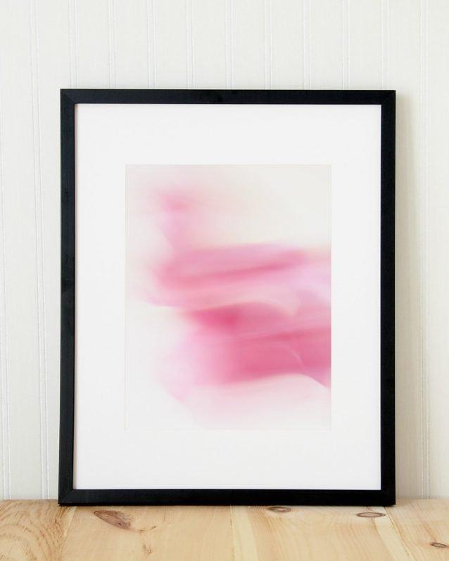 Tara - Pink abstract wall art