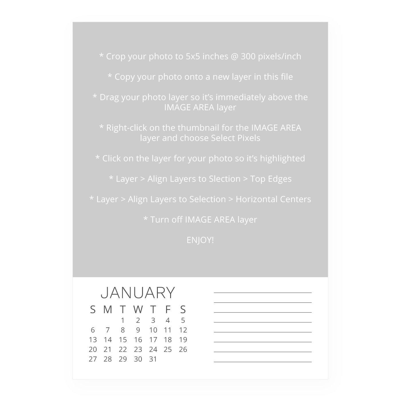2019 Calendar Template Simple