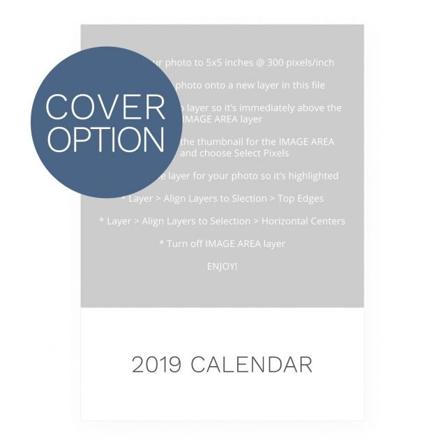 2019 Calendar Template - Printable DIY Download