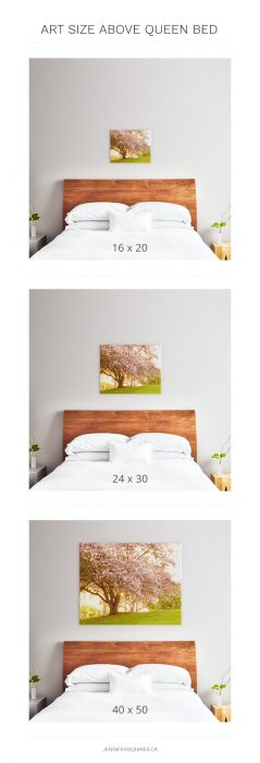 Best Art Size For Above Queen Bed