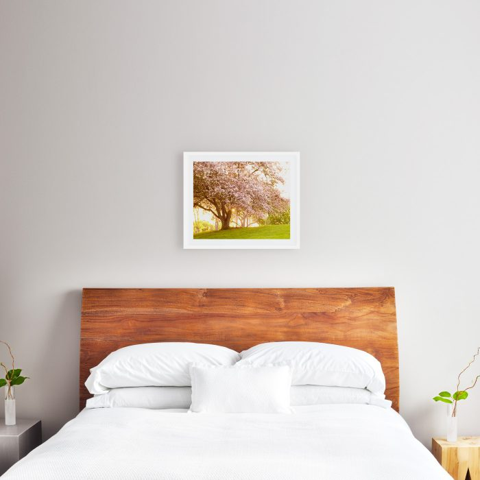 16x20 print above queen size bed