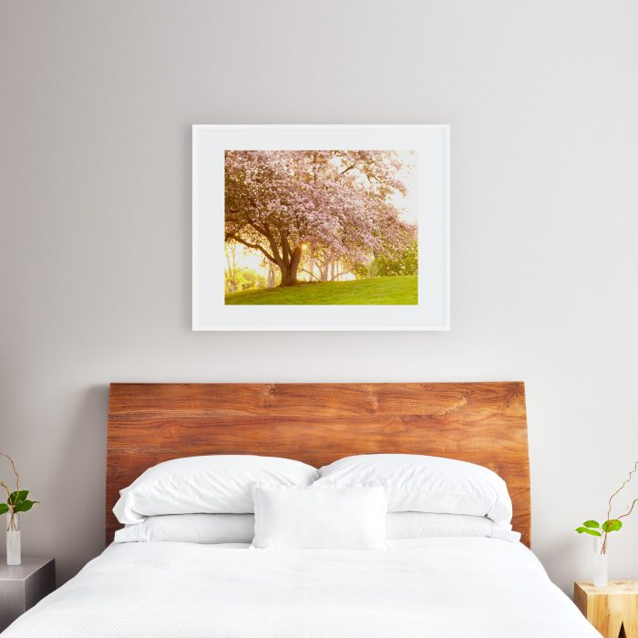 24x30 print above queen size bed