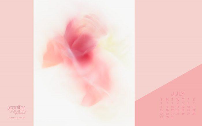 July 2018 Calendar - Beautiful Abstract Flower Wallpaper