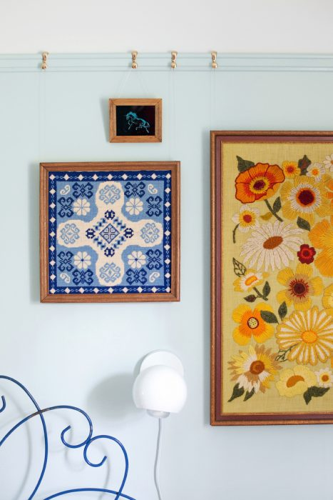 How to Hang Art Without Nails - Picture Rail