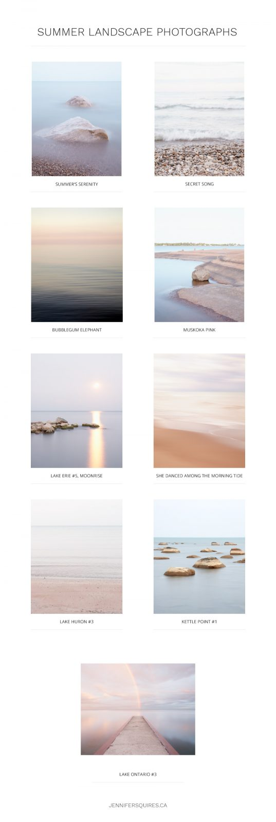 Best of Summer Landscape Photographs by Jennifer Squires