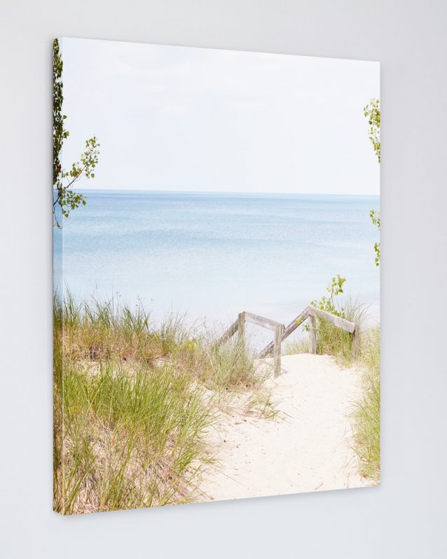 Pinery Steps Beach #5 -Beach Landscape Photography on Canvas