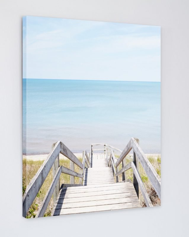 Pinery Steps Beach #1 Vertical - Canadian Canvas Art Print