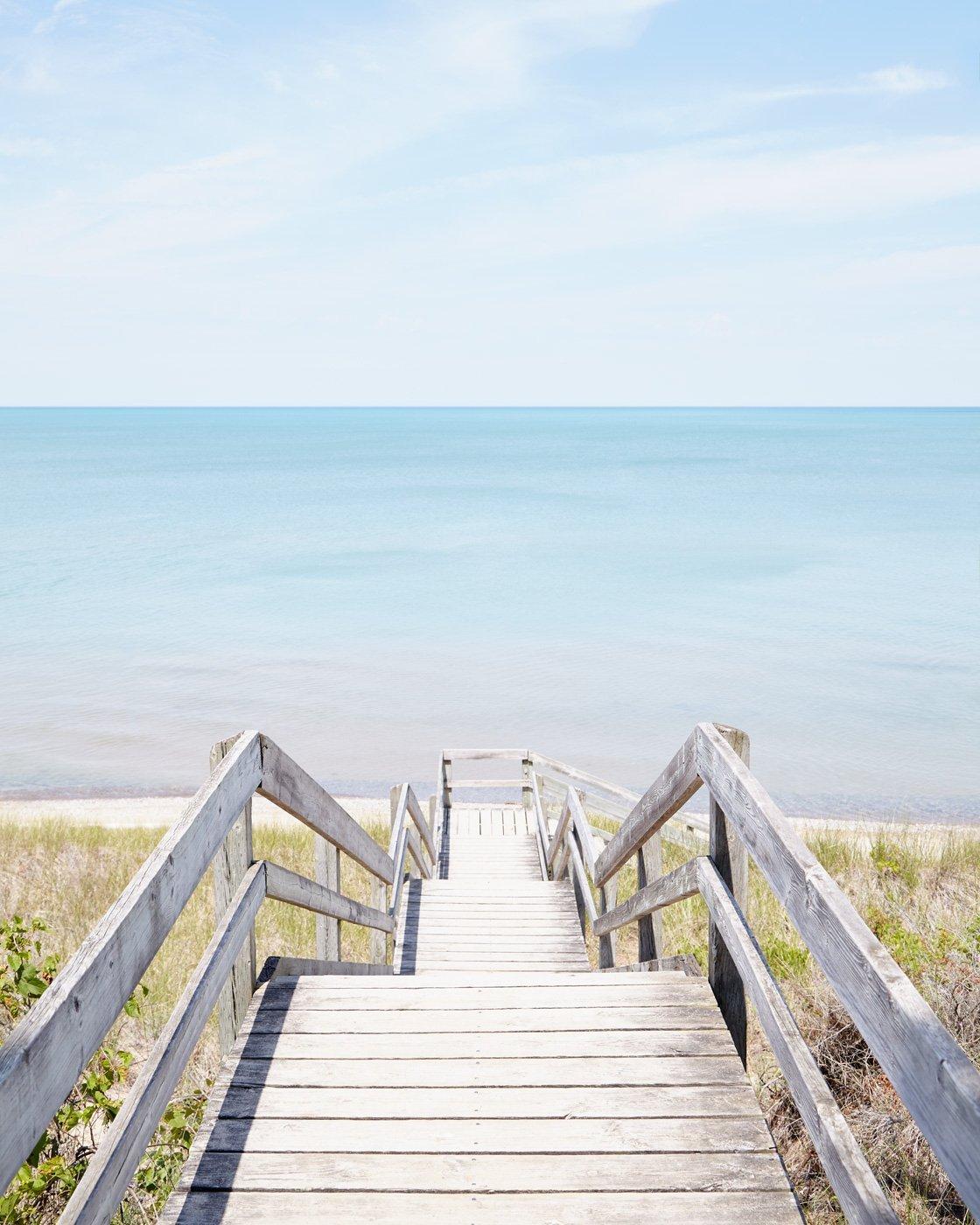 Pinery Steps Beach #1 Vertical - Canadian Art Print
